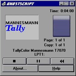 Mannesman Tally Printer/VCR combo